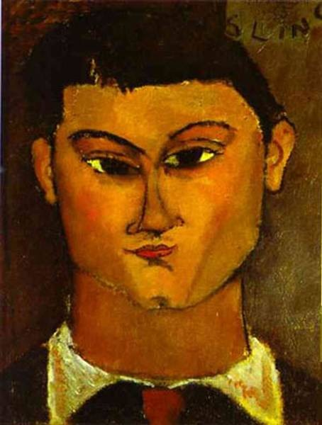 portrait of the painter mo se kisling 1891 1953 1915 XX pinacoteca di breta milan italy